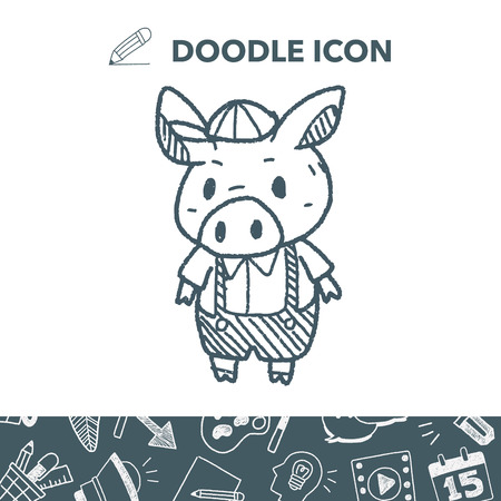 Three little pigs doodle.