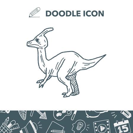 triceratops: Dinosaur doodle.