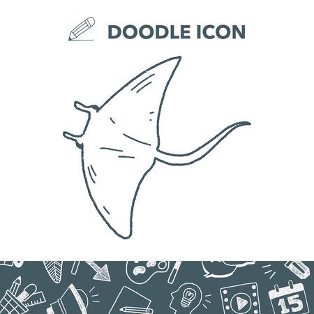stingrays: Stingray doodle.