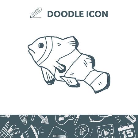 clown fish: Clownfish doodle. Illustration