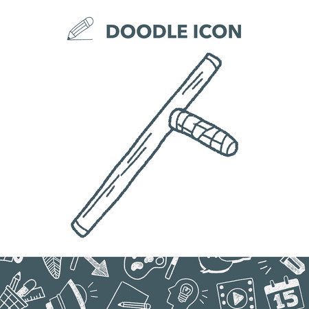 stick doodle vector illustration