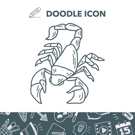 Scorpion doodle.