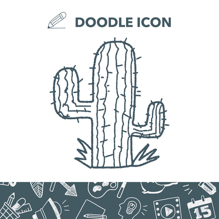 Cactus doodle vector illustration 向量圖像