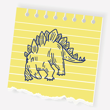 triceratops: Stegosaurus dinosaur doodle