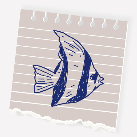 clown fish: Tropical fish doodle