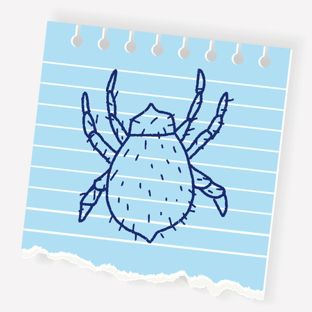 Mite doodle Иллюстрация