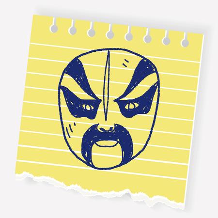 Mask doodle Ilustrace
