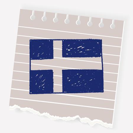 Sweden flag doodle Illustration