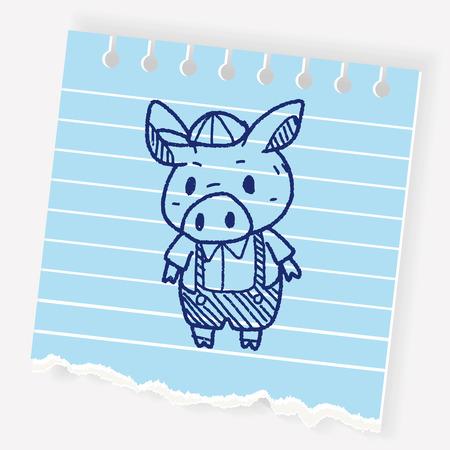 storybook: Little pig doodle