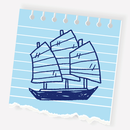Chinese boat doodle