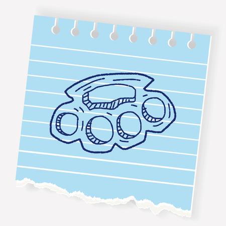 Knuckles doodle Ilustracje wektorowe