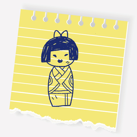 Japanese doll doodle