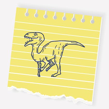 triceratops: Dinosaur doodle