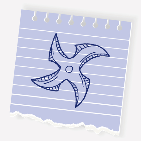 Ninja weapon doodle