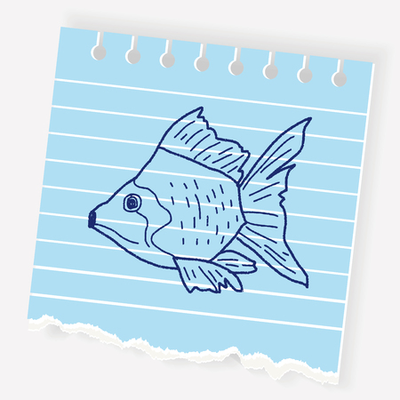 Goldfish doodle Illustration