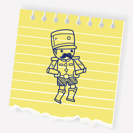 christmas military: Toy Soldiers doodle Illustration