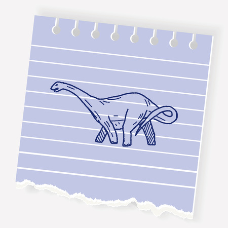triceratops: Brontosaurus dinosaur doodle