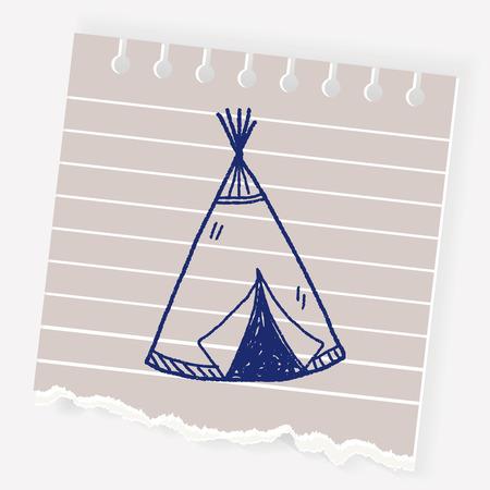 Indians tent doodle