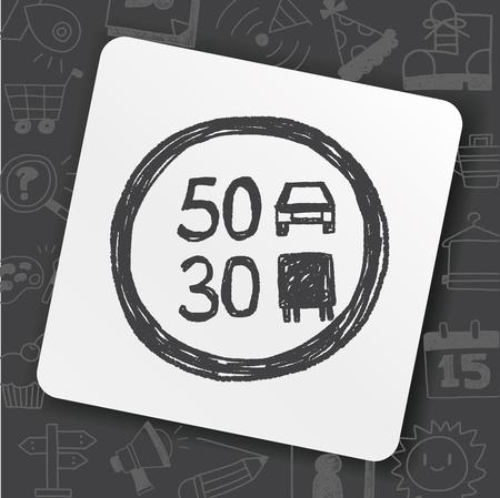 Doodle limite de vitesse Banque d'images - 89633621