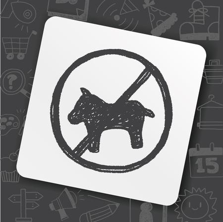 Aucun doodle pour chien Banque d'images - 89624288