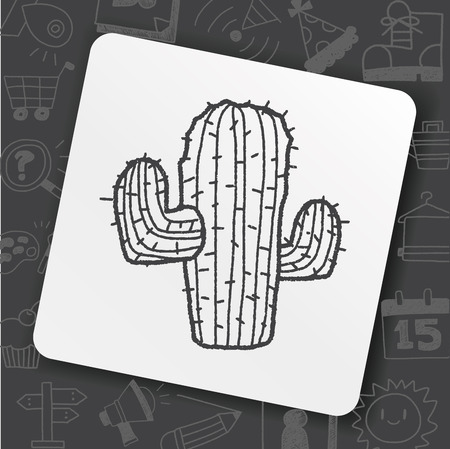 Doodle of a cactus