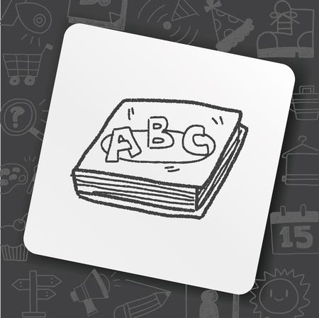 Doodle del libro di ABC Archivio Fotografico - 91187187