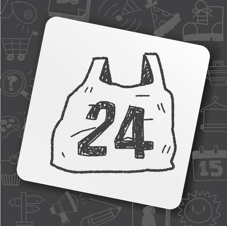 24-uurs winkelen doodle pictogram concept illustratie.