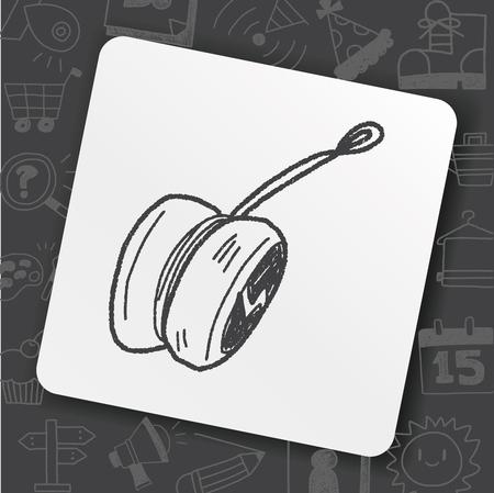 yo-yo doodle Vector illustration.