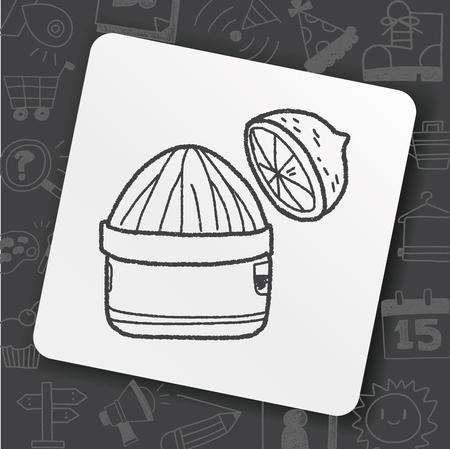 squeezer doodle Vector illustration. Stock Vector - 93206354