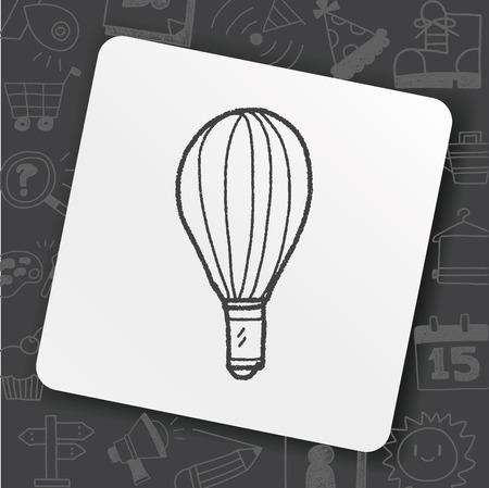 Doodle Whisk icon in square white illustration on black background.