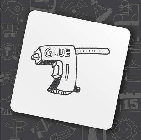 Glue gun doodle