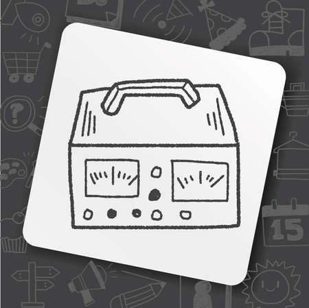 electricity measurer doodle