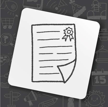 Certificate doodle