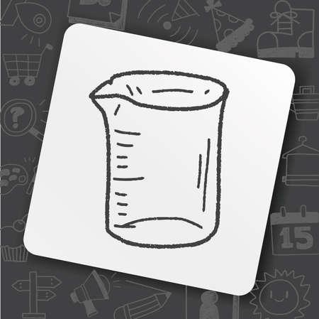 Measuring cup doodle Stock Illustratie