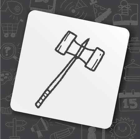 hammer doodle Stock Illustratie