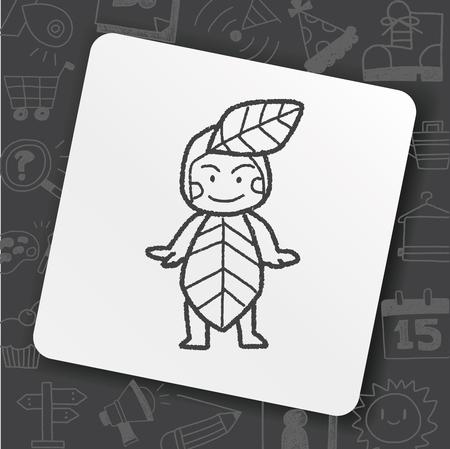 Elf doodle icon
