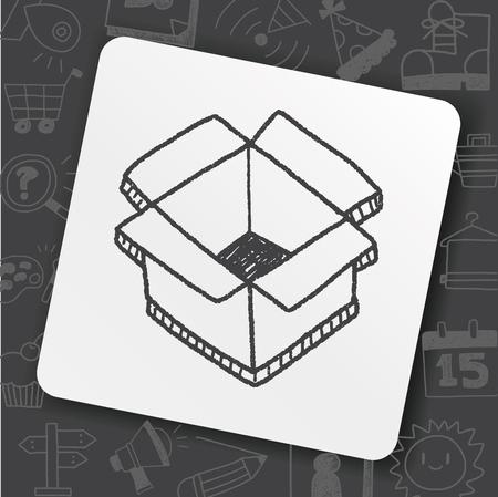 Doodle Box Stock Illustratie