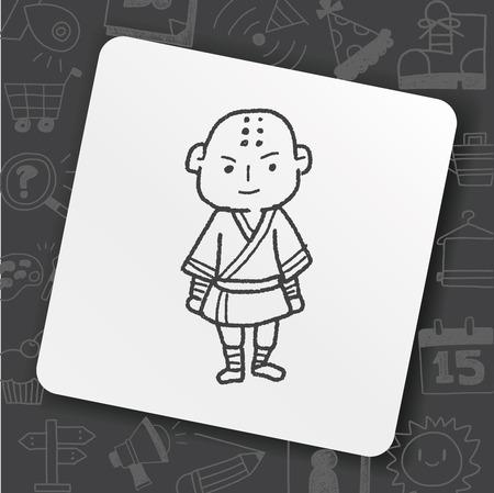 Shaolin doodle Stock Vector - 100676056