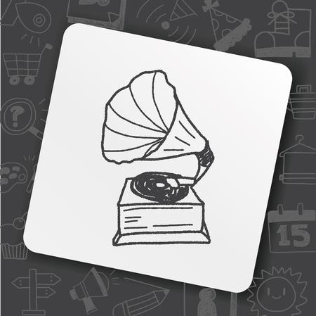 gramophone doodle