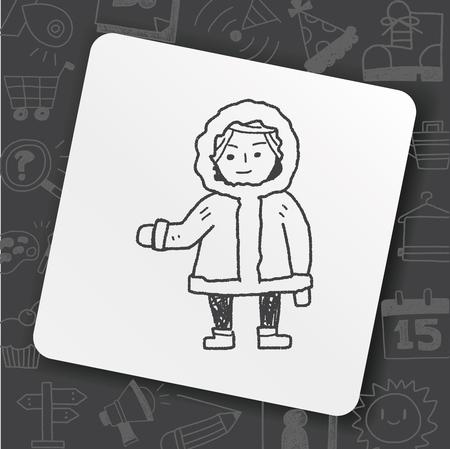 Eskimos doodle