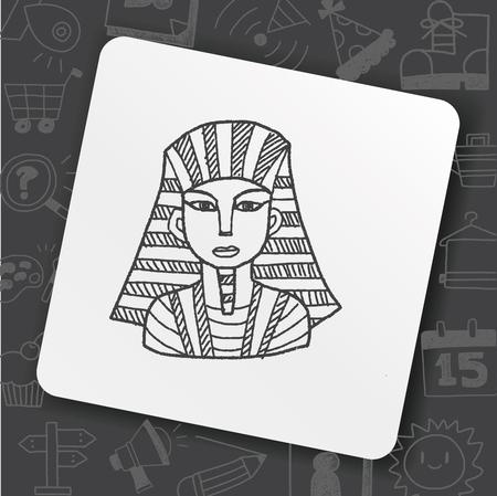 pharaoh doodle  イラスト・ベクター素材