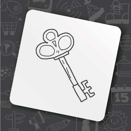 old key doodle