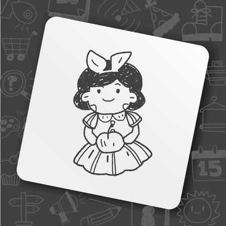snow white doodle