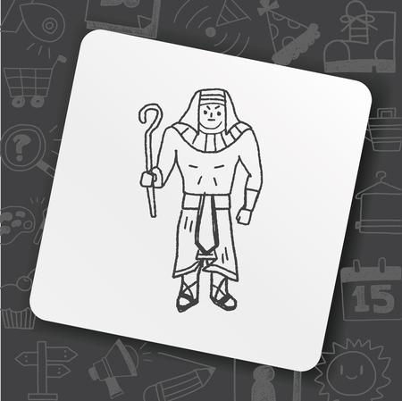 pharaoh doodle Ilustração
