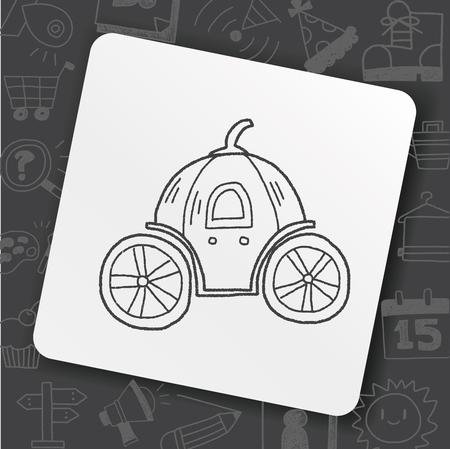 Pumpkin carriage doodle