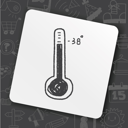 thermometer doodle Illustration