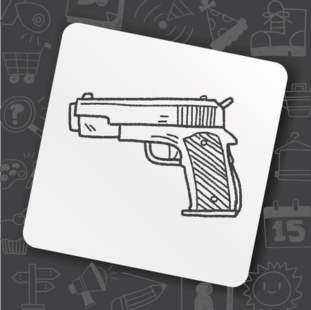 gun doodle