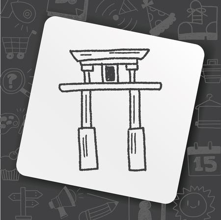Japan Arch doodle