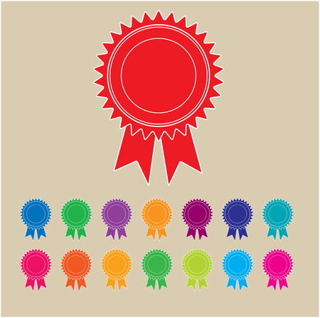 awarded: Rosettes in a range of funky colours. Ideal for certificates. Put your own wording on them and make them yours.