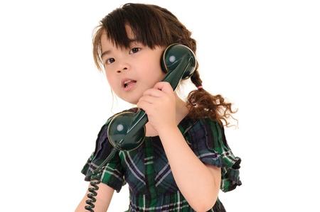 beautiful young girl talking phone